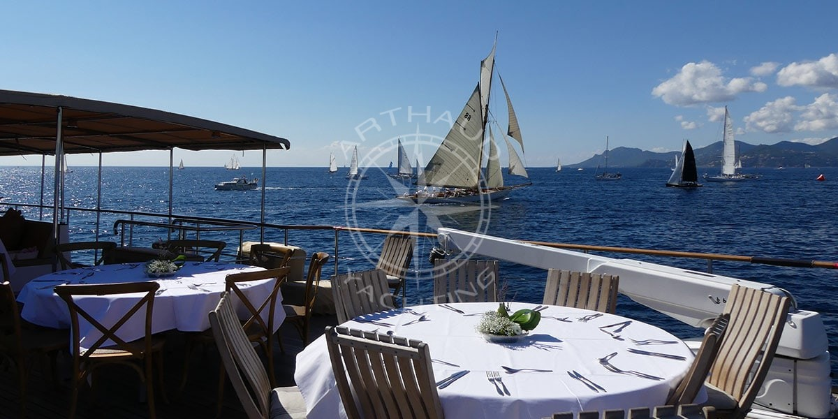 Spectate the Régates Royales de Cannes on board yacht Clara-One