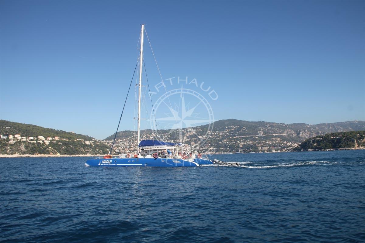 Croisière en Maxi Catamaran à Monaco - Arthaud Yachting