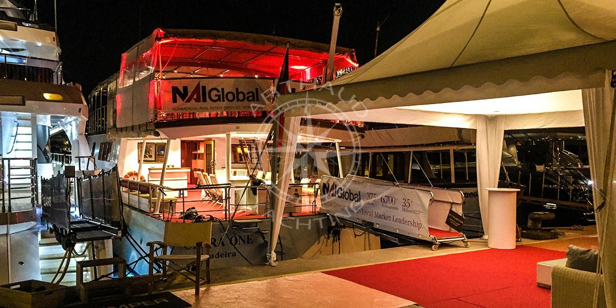 Location yacht charter événement à quai - French Riviera
