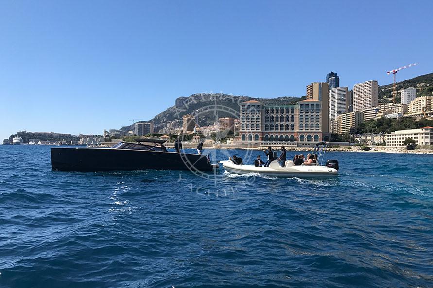 Lancôme rented speed boats in Monaco