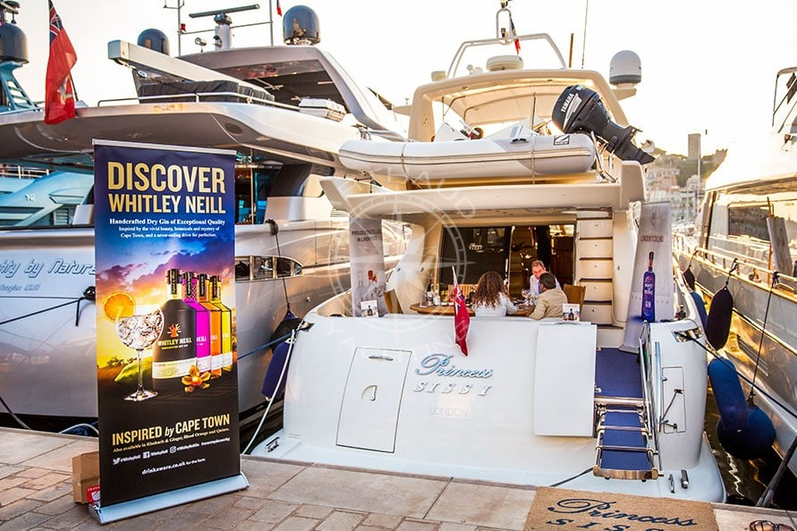 Location yacht à quai Salon TFWA Cannes