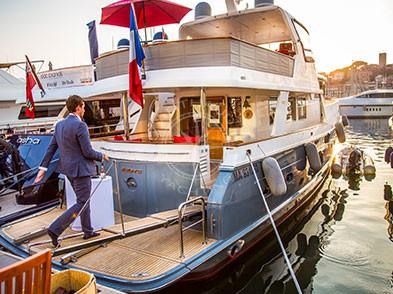 Événement yacht à quai Côte d'Azur