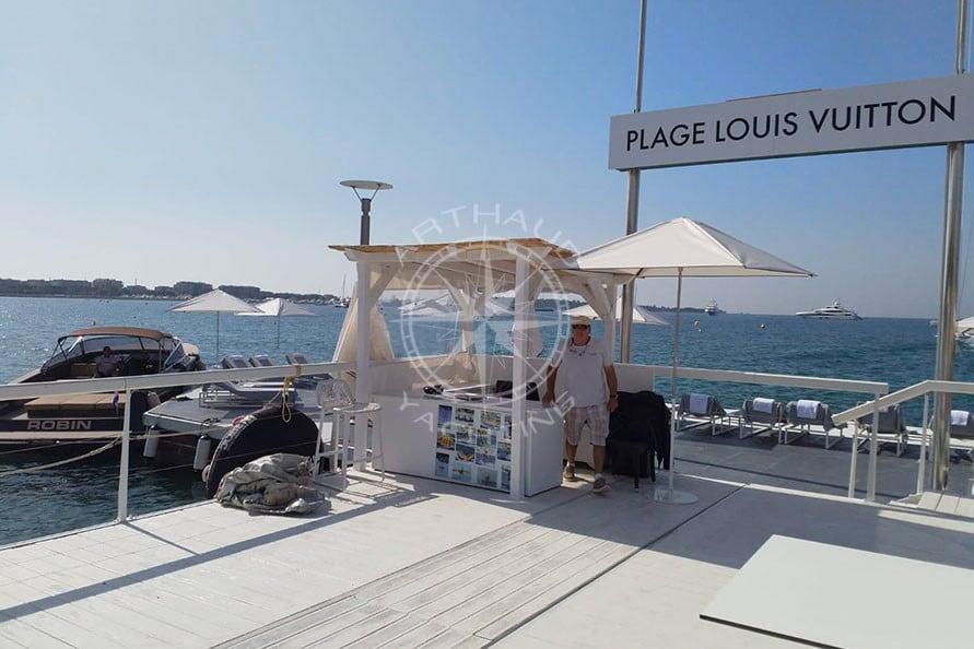 Location yacht Cannes pour Louis Vuitton