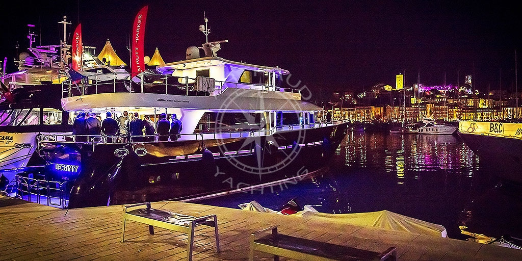 Quayside yacht rental event for MIPCOM Cannes