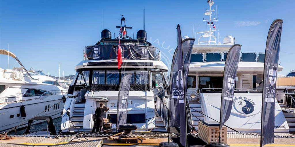 Quayside yacht rental for MAPIC Cannes